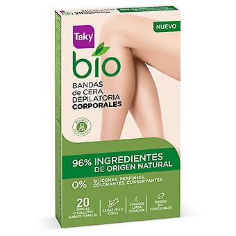 Taky Bio Natural Wax Band Waxing Body 20 Units