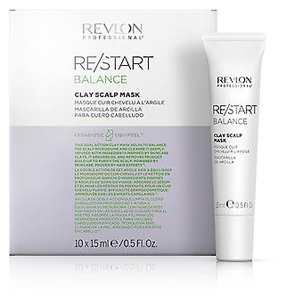 Revlon Re Start Balance Mascarilla Cuero cabelludo de arcilla 10 x 15 ml