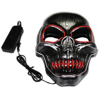 Luminous Mask Seam Mouth Skull Led Halloween Screaming Face Horror Scary Cosplay Props