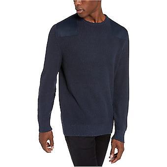 Goodthreads Men's Soft Cotton Military Sweater, Navy XX-Large