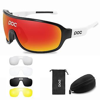 linse sykling solbriller, utendørs sport polarisert lys briller, menn, kvinner,