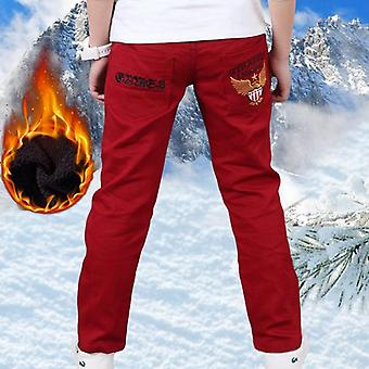 Add Wool Hot  Winter Thicken Letters Trousers Pants