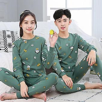 Tonårspyjamas, höst långärmad,'s kläder, sleepwear pyjamas uppsättningar
