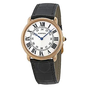 Cartier Ronde Louis 18kt Rose Gold Men's Watch W6800251