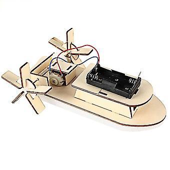 Le matériel de modèle de bateau de diy a placé le kit de construction en bois 3d assemblent l'expérience créatrice de science éducative