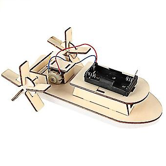 Diy boat model material set wood building kit 3d assemble creative educational science experiment