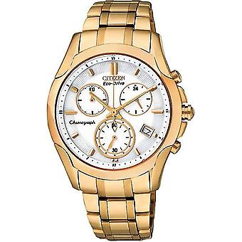 Citizen Eco-Drive Rose Gold Chronograph Ladies Watch FB1153-59A