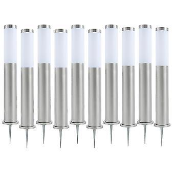 Set of 10 Biard LED Post Bollard Pedestal Light Outdoor Garden Path Lawn IP44