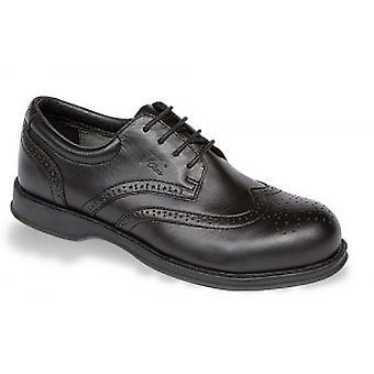 V12 VC100 Diplomat Black Executive Brogue Shoe EN20345:2011-S1 Size 8