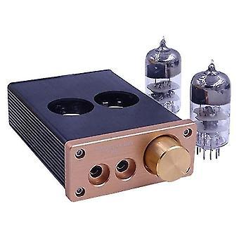 A9ヘッドフォンアンプ熱グレードのハイフィチューブアンプ12vデスクトップDIY真空管胆汁プリアンプヘッドフォンパワーアンプ