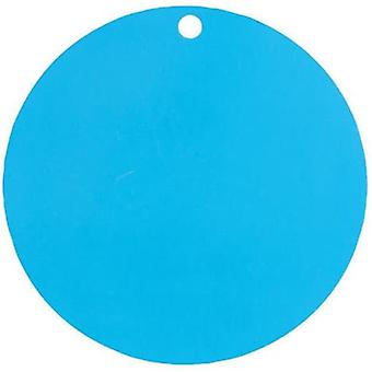 10 Marque-places en carton turquoises 4,7 cm