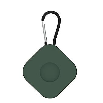 2Pcs for airtags protective case anti lost keychain square  army green
