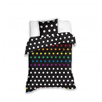 cover of the bed dots black/white 140 x 200 cm