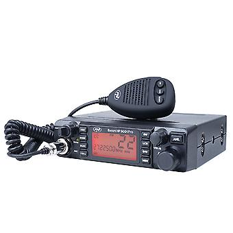 CB PNI Escort station de radio HP 9001 PRO ASQ réglable, AM-FM, 12V / 24V, 4W, Scan, Dual Watch, ANL, affichage multicolore