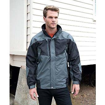 Resultado para hombre 3 en 1 chaqueta de rendimiento de Aspen (impermeable, a prueba de viento y transpirable)