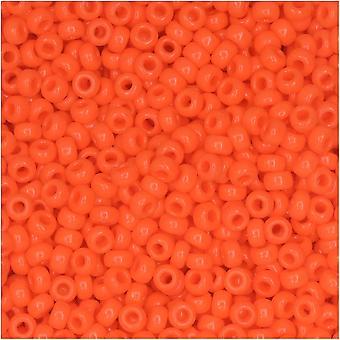 ميوكي جولة حبات البذور، 11/0 الحجم، 8.5 غرام أنبوب، #406 البرتقال مبهمة