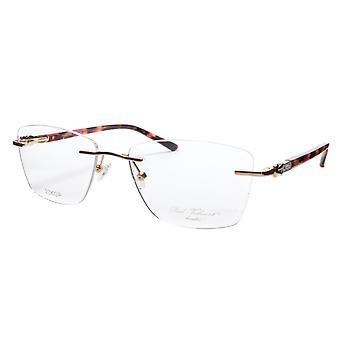 Paul Vosheront Eyeglasses Frame PV502 C02 Gold Plated Acetate Italy 54-17-135 37