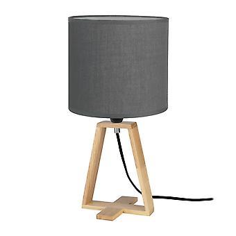 Lampada da tavolo Drum Shade E14 40W Grigio