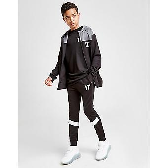 New 11 Degrees Cut & Sew Poly Track Pants Junior from JD Outlet Black