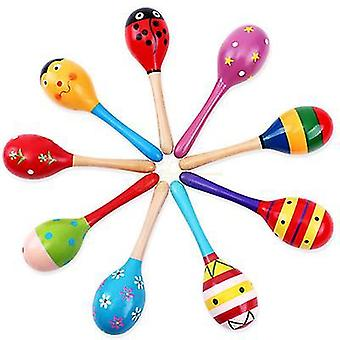 L 3pc sand hammer with wooden rattle shakertoys for toddlers x6400