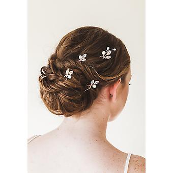 Ana Rose Gold Crystal Vlasové kolíky Cz Svadobné vlasové kolíky sada 4