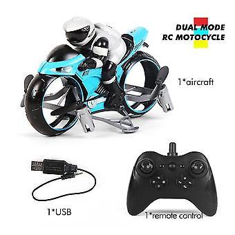 لRC دراجة نارية Vehicl الاطفال لعب كهربائية 2.4Ghz سباق دراجة نارية بوي Fligt بدون طيار للأطفال (الأزرق) WS15847