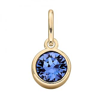 Begynnelsen gullbelagt safir Swarovski krystall anheng