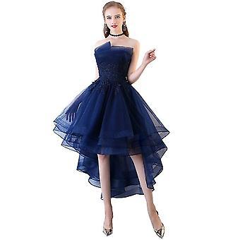Estélyi ruhák Rövid Front Long Back Party Prom Csipke Applique ( Set 1)