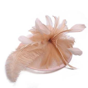 Fjer Mesh Hovedbeklædning Kvinder Hovedbeklædning Cocktail Bride Party Elegant Hat Pandebånd