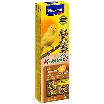 Vitakraft Krcker Egg And Grass Seeds P / 2 - For Canary