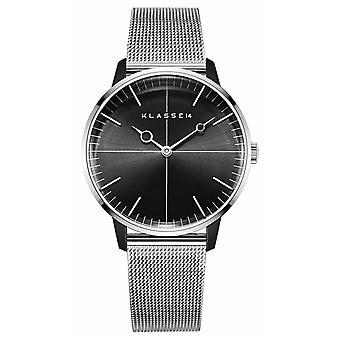 Klasse14 Disco Volante Silver Black Mesh 36mm WDI19SB001W Watch
