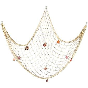 Natural Fishing Net Decor Shells Beach Theme For Party Home Bedroom Wall Hanging