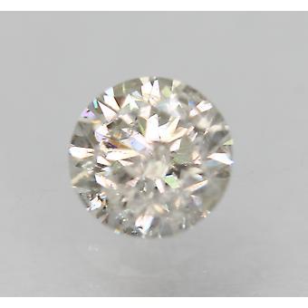 Certificado 0.41 Quilate h cor SI3 Redondo Brilhante Natural Diamante Solto 4.72mm