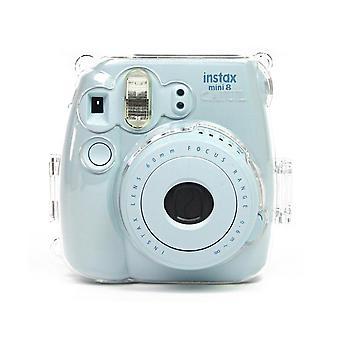 Crystal Camera Case med justerbart regnbågs axelband för Fujifilm Instax Mini 8 8 + 9 Instant