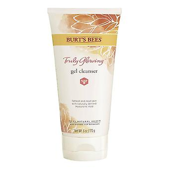 Burt's bees truly glowing refreshing gel cleanser with naturally derived hyaluronic acid, 6 oz