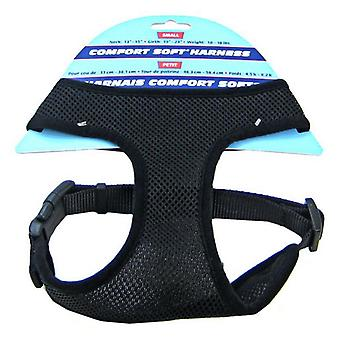 "Coastal Pet Comfort Soft Adjustable Harness - Black - Small - 3/4"" Width (Girth Size 19""-23"")"