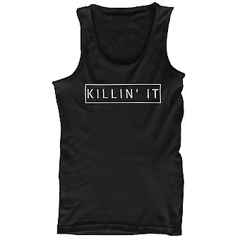 Cotone nero grafico Canotta uomo - Killin ' che uccidendo serbatoi
