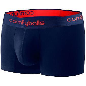 Comfyballs Men's Performance Regular Boxer Shorts Fitness Underwear - Navy Red