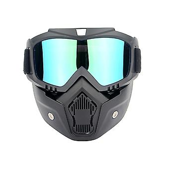 Outdoor chairs motorcycle helmet riding goggles glasses detachable fog-proof warm goggles-multi