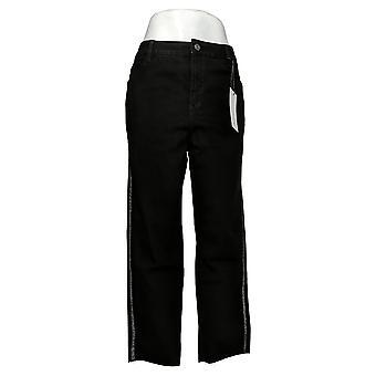 Skinnygirl Women's Plus Jeans14W High-Rise Straight Leg Black 753667
