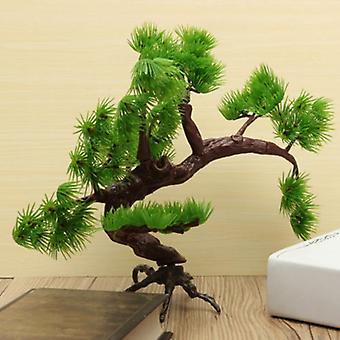 Aquário de Bonsai Pine Tree Plástico Bonsai Ornament Tank Artificial Pine Tree Planta Decoração Ornamento Ornamento Decor