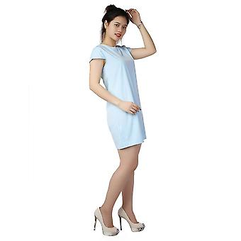 Summer Elegant O Neck Short Sleeve Solid Color Casual Loose One Piece Dress