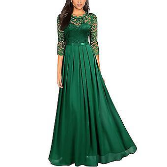 Women's Long Formal Dress Lace Chiffon Dress Wedding Bridesmaid Party Gown