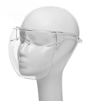 Evago Plastic Durable Glasses Full Face Covering, Protective Face Shield Reusable Goggle Shield, Facial Protection And Mouth Shield, Face Covering Saf