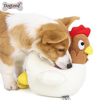 Kura składająca jaja Wąchanie psich zabawki Korzyści z gospodarstwa domowego Wyciekająca żywność Szkolenie zwierząt pluszowe zabawki