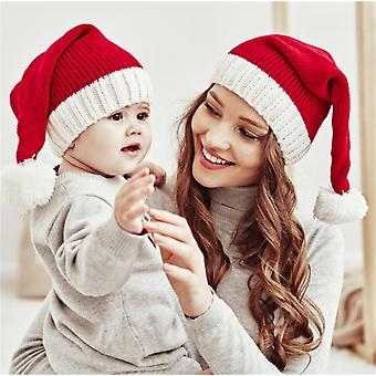 Parent-child Christmas Hat, Warm Knitted Hat For Mother & Baby