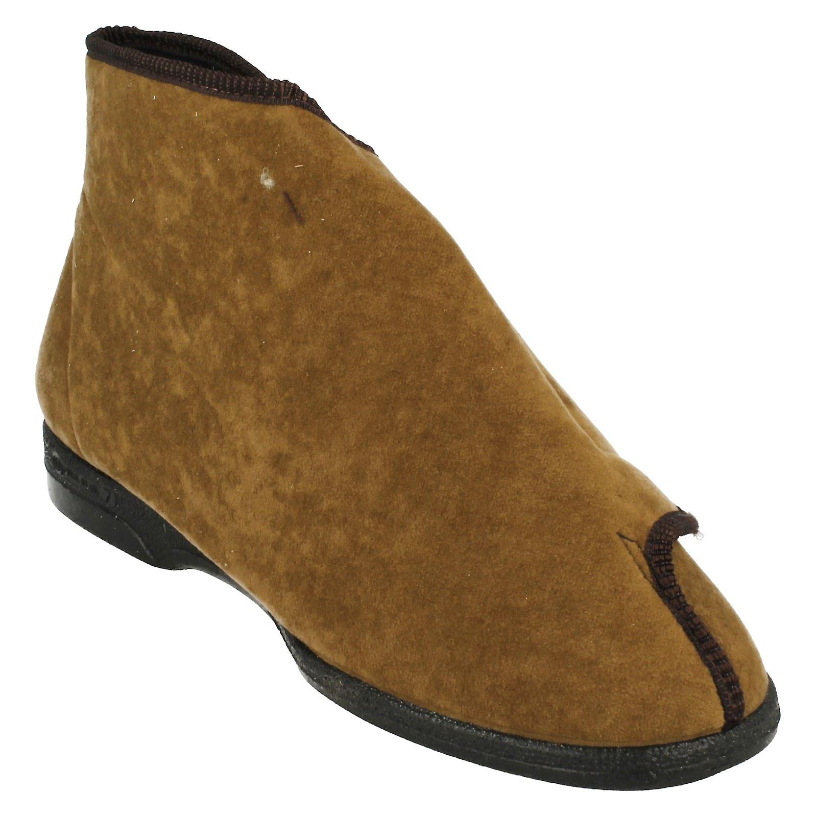 Mens Balmoral Lounge chaussons Velcro Boot