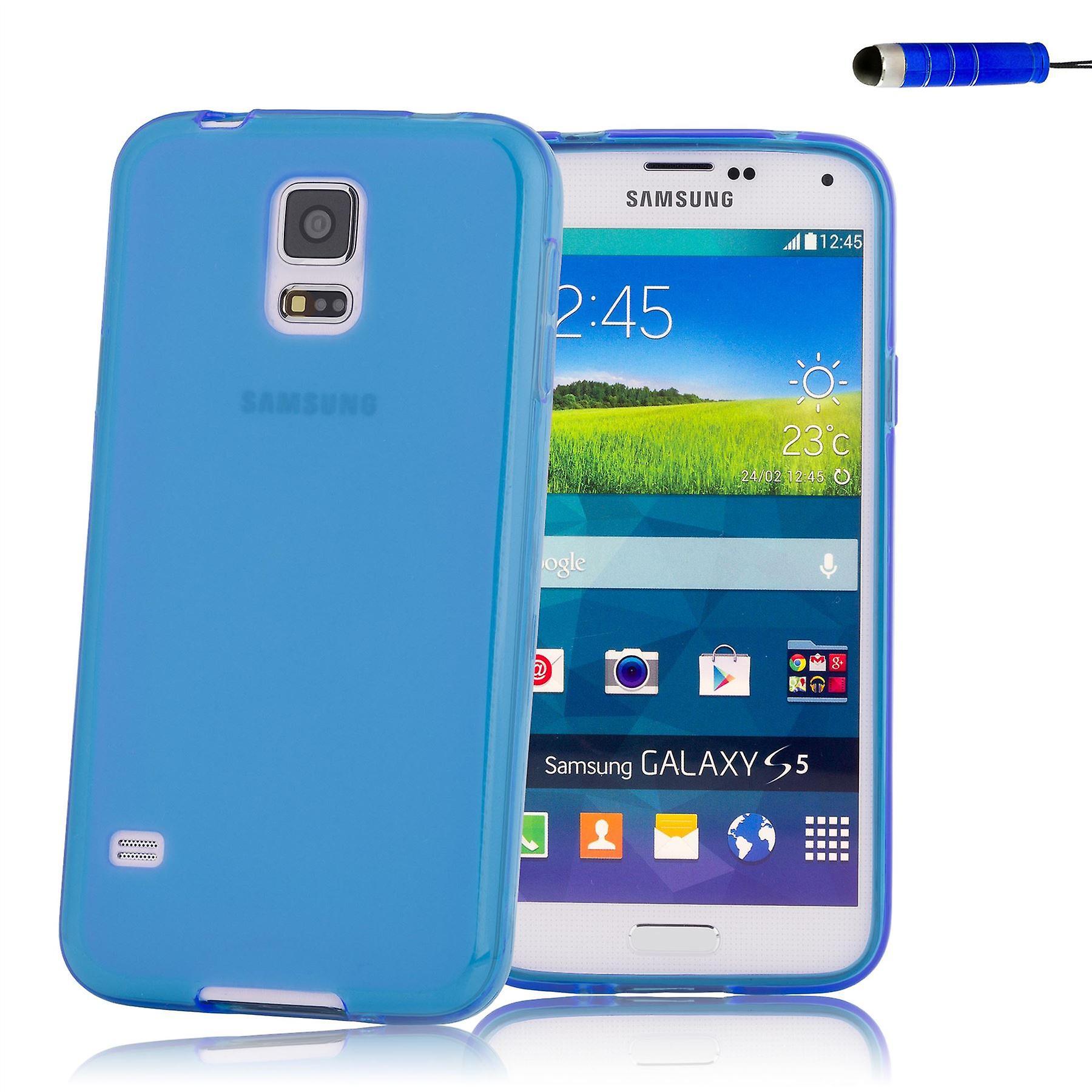 Crystal Gel case cover for Samsung Galaxy S5 Mini (SM-G800) - Deep Blue