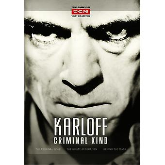 Karloff: Criminal Kind [DVD] USA import