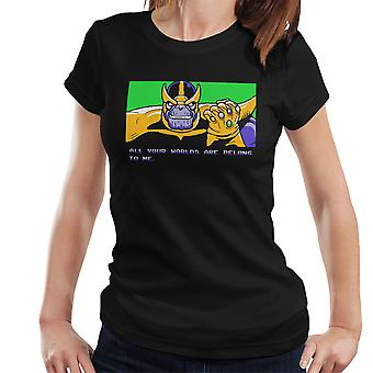 All Your Worlds Are Belong To Me Thanos Zero Wing Women's T-Shirt